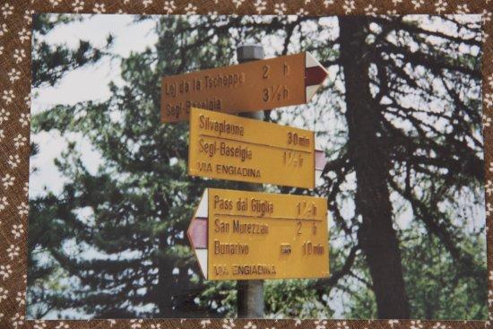 Silvaplana, İsviçre: Wanderzeichen