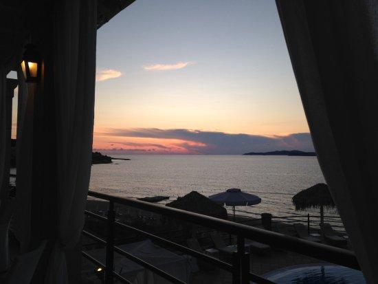 Delfino Blu Boutique Hotel: Sunset from restaurant