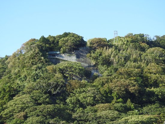 Kunozan Toshogu Shrine : 遠くから見た石段