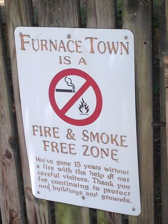 Snow Hill, MD: Furnace Town is Fire & Smoke Free
