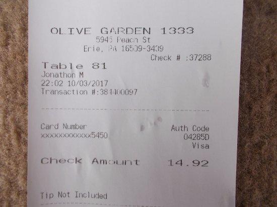 Olive Garden Erie Menu Prices Restaurant Reviews Tripadvisor