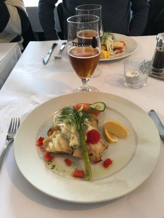 Svaneke, Danimarka: stegt torsk