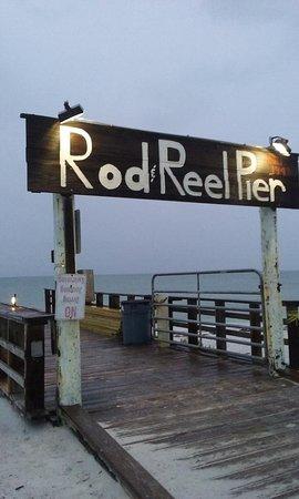 Rod & Reel Pier: The revered sign!