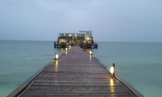 Rod & Reel Pier: The pier on a rainy day!