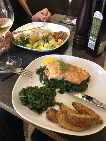VYNO UOGA, Wine and Garden Restaurant, Shop: Salmon and pork