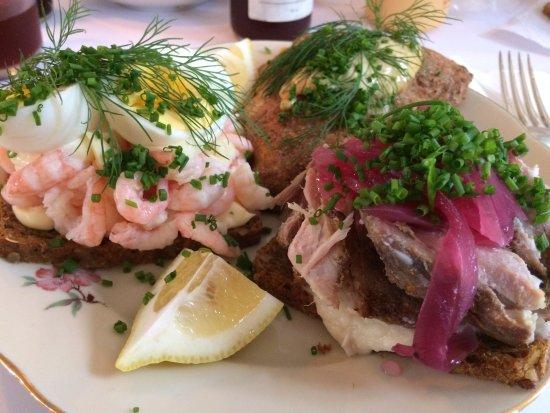 Praestoe, Denmark: Open faced sandwiches