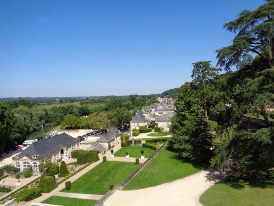 Rigny-Usse, Frankrig: vista desde el castillo