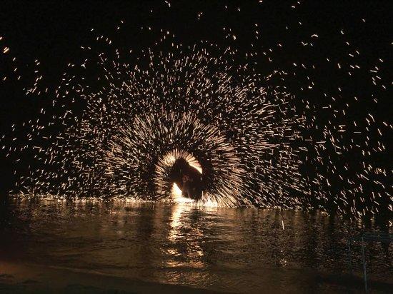 Yin Yang Restaurant: fire show