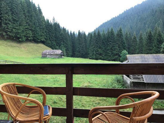 Moieciu de Sus, Rumania: Great view from the room