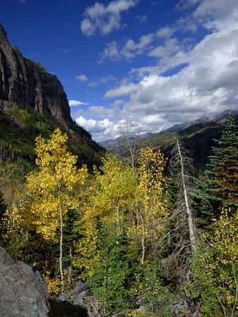Telluride, CO: Bride Veil Fallshike view