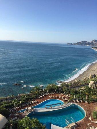Hotel Baia Taormina: View from terrace