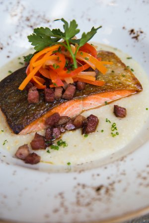 Rochester, MI: crispy-skin salmon