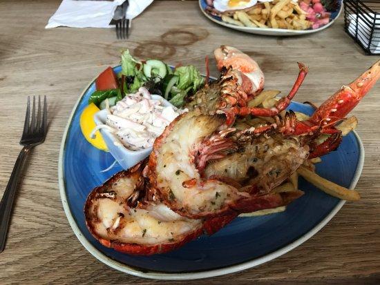 Stiffkey, UK: Whole lobster dish