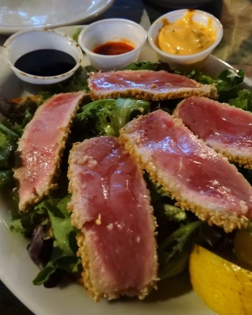 Eagle River, WI: Ahi Tuna with Dipping Sauces
