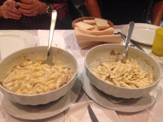 Momjan, Croacia: fusi al tartufo e gnocchi ai funghi