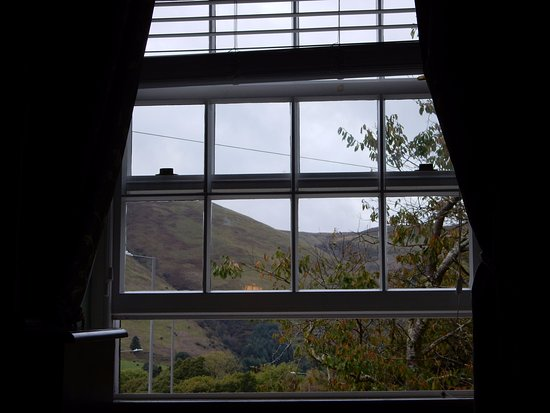 Machynlleth, UK: Hill view from room