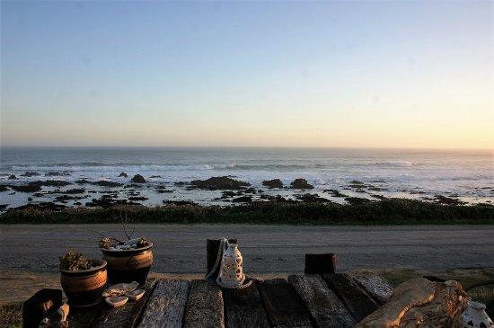 Beachview, Republika Południowej Afryki: Blick von der Terasse aus direkt auf das Meer.