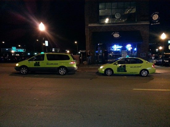 Dubuque, IA: #1 Green Cabs outside of Lot 1. From www.greencabdbq.com
