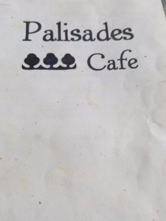 Palisades Cafe: menu
