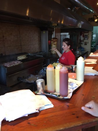 Lucky's Souvlakis : Our food is grilled.