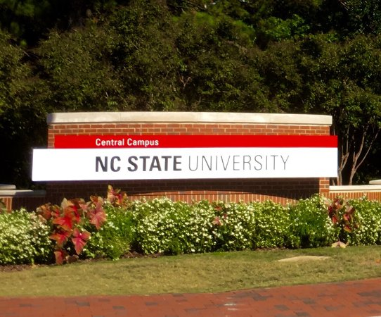 Campus Map Sign - Picture of North Carolina State University ...