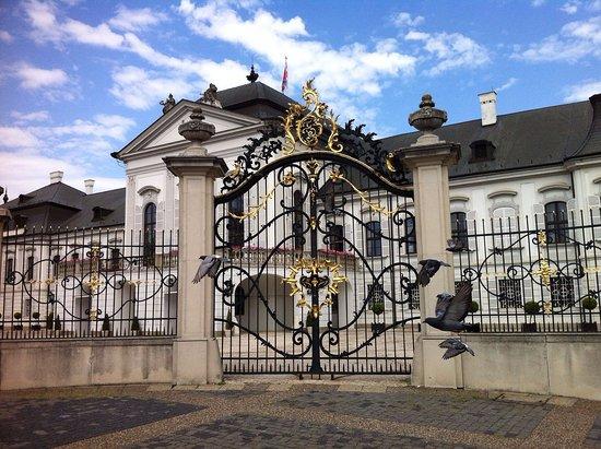 Grassalkovich Presidential Palace: Grille du palais et pigeons