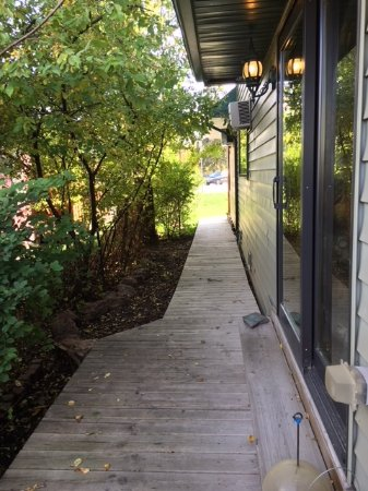 Mountains To Prairies Bed and Breakfast: Walkway To Our Suite