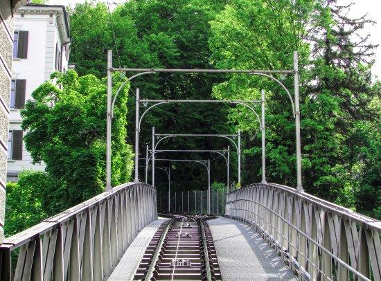 UBS Polybahn: Trecho do percurso do funicular Polybahn