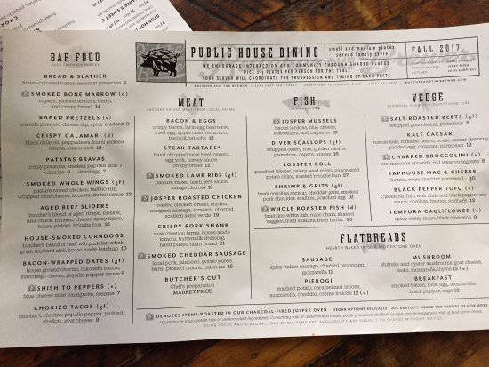 Table 6 North Canton Menu Of Picture Of Butcher And The Brewer Cleveland
