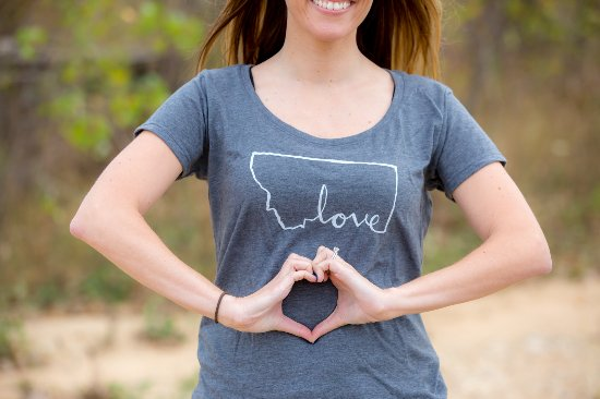 Montana Love Script Shirt Picture Of Montana Shirt Co Whitefish
