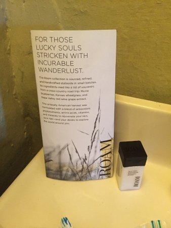 Locust Dale, VA: Roam bath products, nice touch