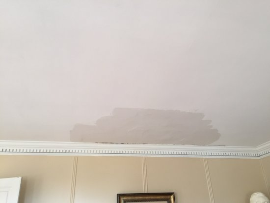 Locust Dale, VA: Painted over water stain in Entry parlor