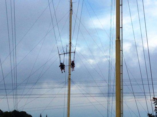 Davao City, Philippines: Sky Swing...uh oh!