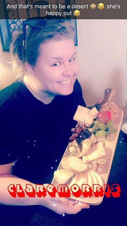 Claremorris, Ireland: You can see how happy I was with my cheese plate haha