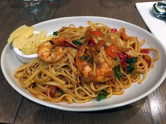 Oakleigh, Αυστραλία: The beautiful garlic prawn linguine