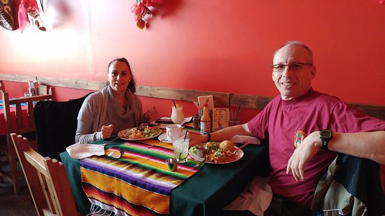 Trevor & Patty having another great meal at Mamacitas in Cold Lake, Alberta