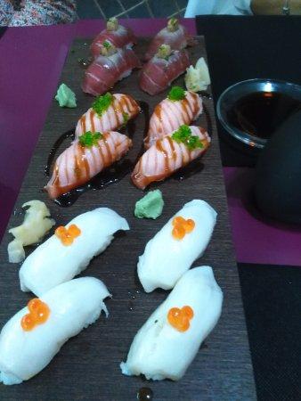 Eki Sushi : Pez mantequilla, salmón y de atún espectacular