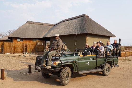 nThambo Tree Camp: Ready for the evening safari with our tracker Isaack.