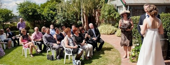 Lancefield, Australië: A VERY hot day for a wedding at Cleveland Winery