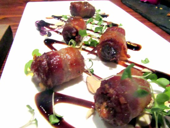 Bacon Wrapped Dates, Underdog Wine Bar, Livermore, Ca