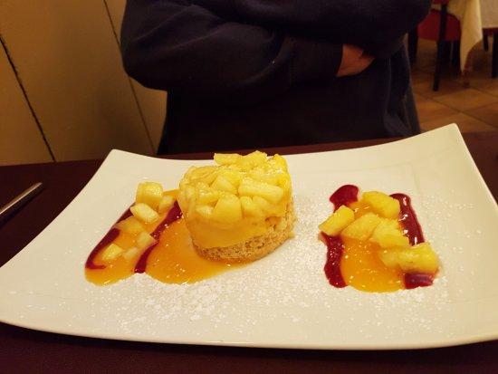 Le Chapon d'Or : sablé au fruit du jour : ananas