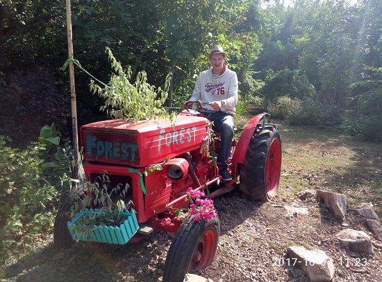 Ust-Labinsk, รัสเซีย: Это красавец трактор стоит по алее парка мимо не пройдёте