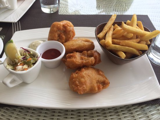 Beer battered fish and chips a very good meal picture for Terrace fish and chips