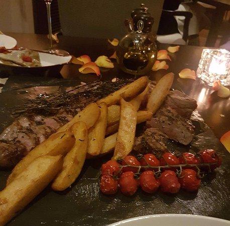 Splendido: special promotion beef dish, bistecca fiorentina