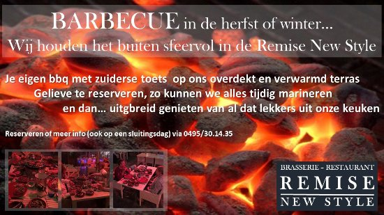 Bilzen, Belgium: bbq Time@Restaurant Remise New Style.
