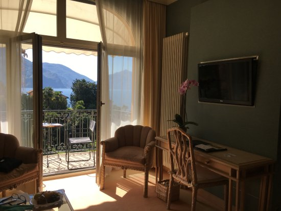 Grand Hotel Villa Castagnola: hübscher Balkon