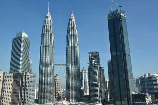 Petronas towers from room, 25th floor