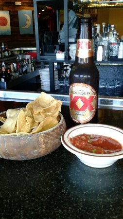 Somerville, MA: Free chips and salsa at Papagayo
