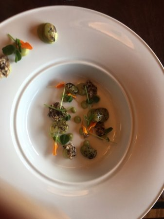 Rimrock Resort Hotel: dinner plate at Eden