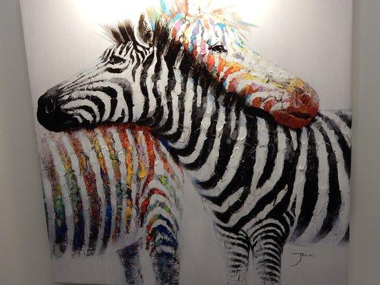 Cranage, UK: art in stairwell